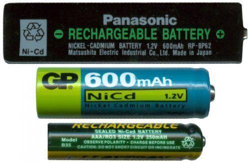 Baterías de NiCd